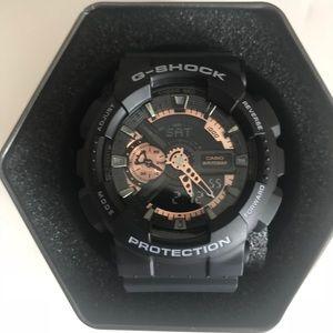 G Shock Watch Black Gold Like New